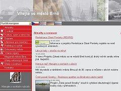 Náhled na současný web města Brna.