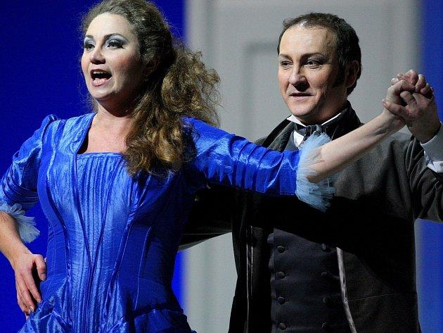 Opereta Polská krev v nastudování brněnského Národního divadla.