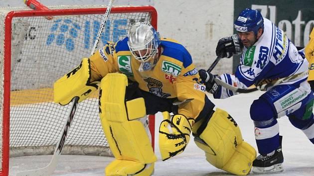 Hokejisté brněnské Komety nestačili na ústecké lvy.