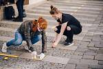Bezpečnou zónu zkusili nainstalovat nadšenci v úterý odpoledne na brněnském Kapucínském náměstí.