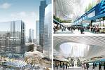 Snøhetta Architecture Landscape Architecture, Civitas, Thorton Tomasetti, 4ct (New York – Denver – Praha): Penn Station & Plaza, New York, Spojené státy americké. Vizualizace.