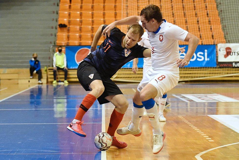 10.11.2020 - kvalifikae na mistrovství světa mezi Českou republikou v bílém (Matšj Slováček) a Chorvatskem (Josip Suton)