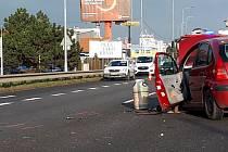 Nehoda na I52 omezila dopravu.