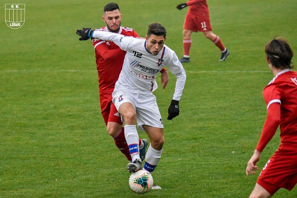 Fotbalová FORTUNA:NÁRODNÍ LIGA: Líšeň (bílá) - Vyšehrad. Foto: SK Líšeň