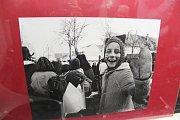 Lidé si prohlédli v tramvaji fotografie ze života pěstounských rodin.