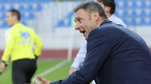 Trenér Zbrojovky Brno Svatopluk Habanec.
