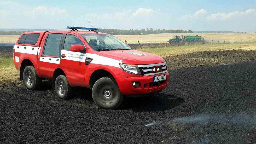 Speciální auto jihomoravských hasičů.