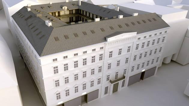 VIZUALIZACE: Dům v České ulici 6 lidé nazývají Anenský dvůr nebo podle svých majitelů palác Chlumeckých.