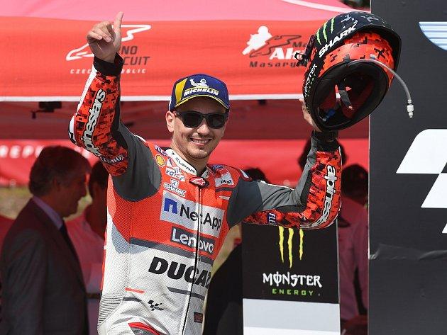 Druhý na Grand Prix vBrně skončil Jorge Lorenzo