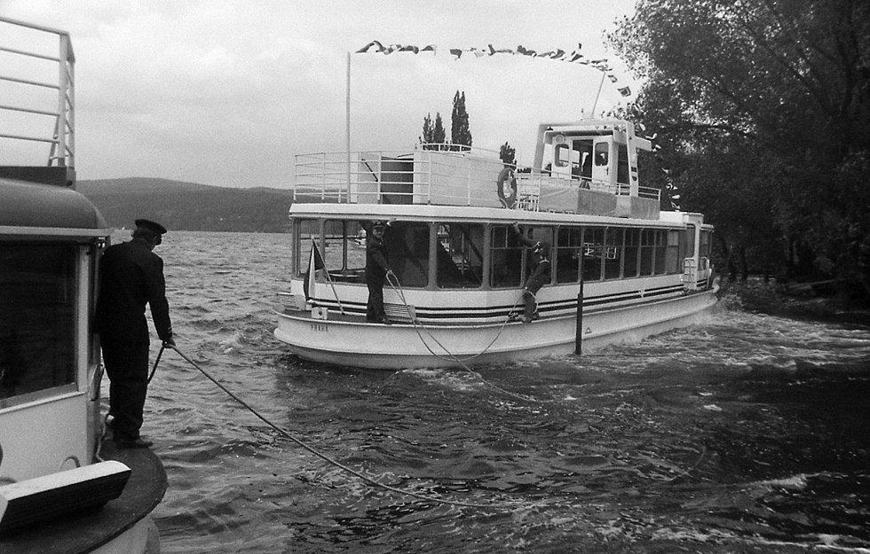 První lodě na dnešní Brněnskou přehradu vyjely 5. května 1946.