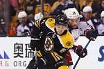 Brněnský rodák a odchovanec Komety Jakub Zbořil v dresu Bostonu Bruins v NHL