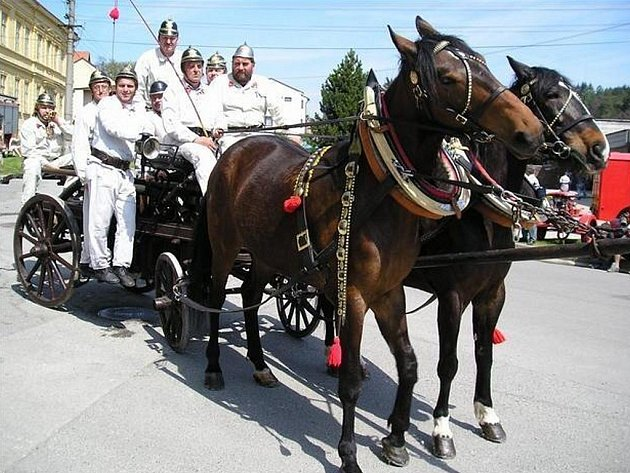 Sbor dobrovolných hasičů ze Křtin.