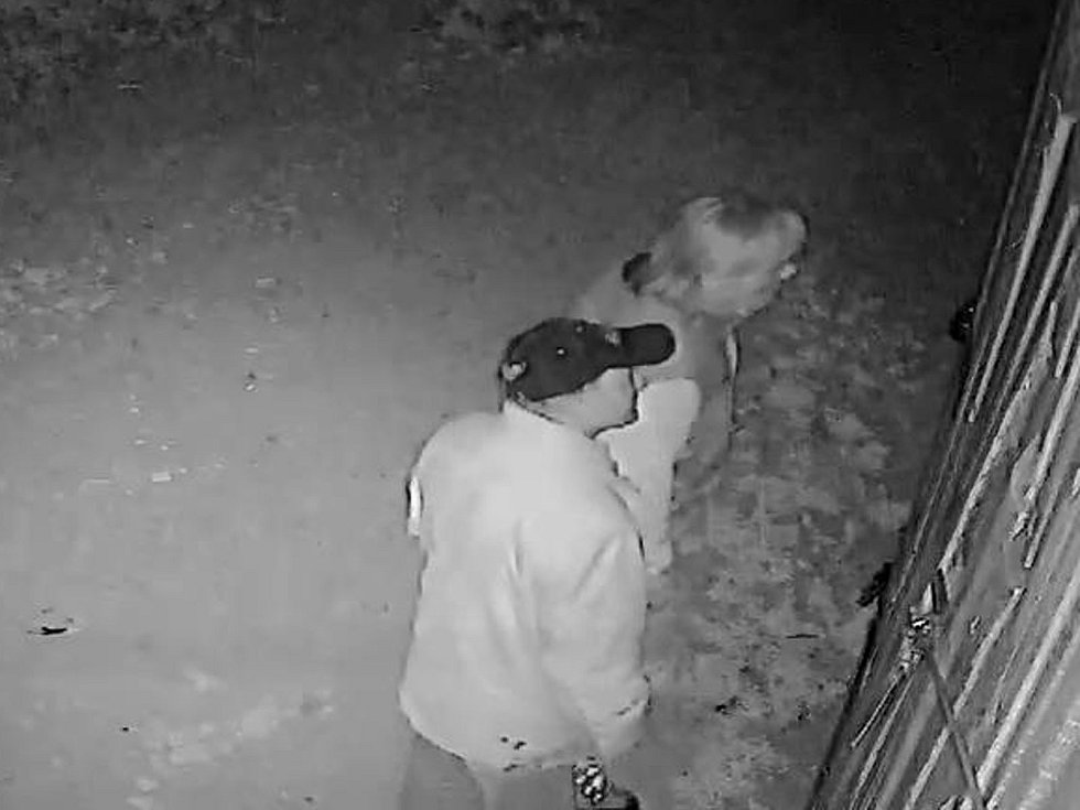 Dva zloději se pokoušeli dostat do budovy v rekreační oblasti poblíž Bílovic nad Svitavou. Foto: policie ČR