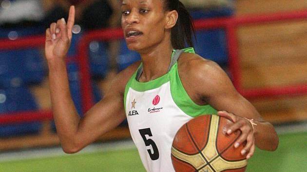 Basketbalistka Frisco Brno Jasmine Thomasová.