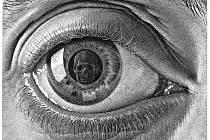 OKO. Escherova grafika Eye z roku 1946.