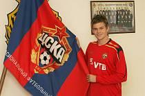 Luboš Kalouda při přestupu z 1. FC Brno do CSKA Moskva.