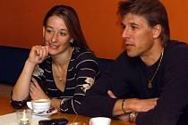 René Novotný s partnerkou Radkou Kovaříkovou.