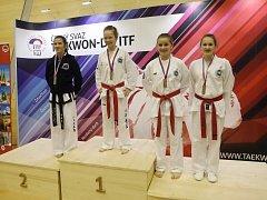Brněnští taekwondisté sbírali medaile na domácím šampionátu.