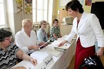 Voleb do poslanecké sněmovny se zúčastnila i lídryně kandidátky jihomoravské TOP 09 Anna Putnová.