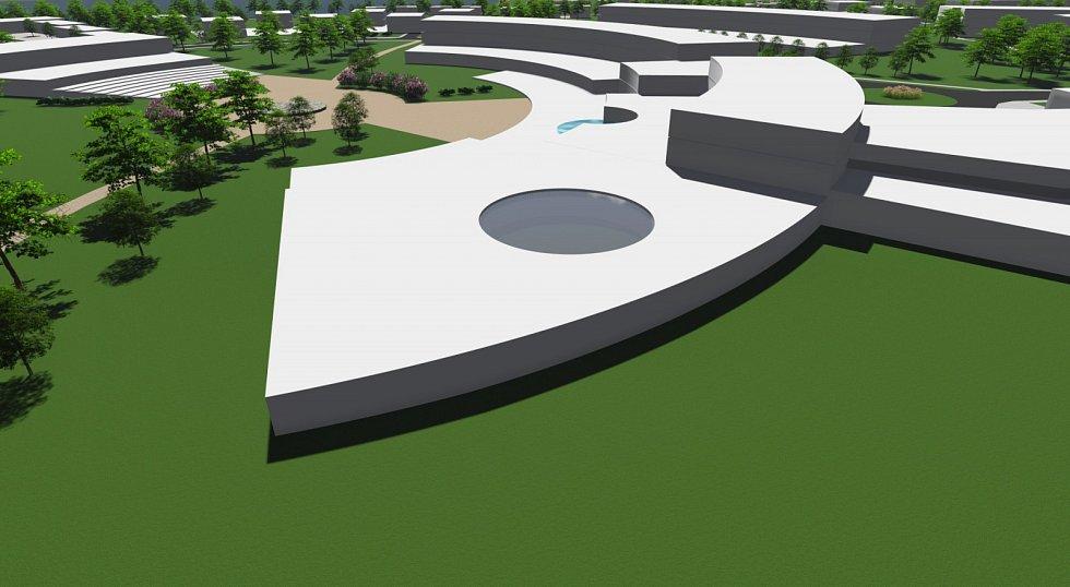 Plánovaný lázeňský komplex v Pasohlávkách. Jednodenní lázně.