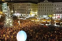 Vánoce na náměstí Svobody. Ilustrační foto