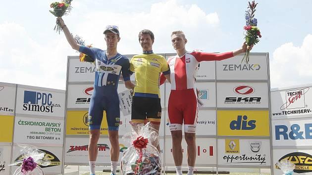 Mezinárodní bodovací závod na 500+1 kolo v brněnském velodromu. Vítězství slavil cyklista Martin Bláha.