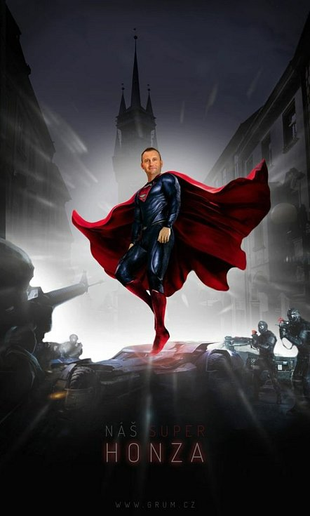Starosta Znojma Jan Grois jako Superman.