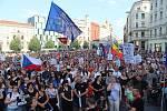 Brněnská demonstrace proti premiérovi Andreji Babišovi.