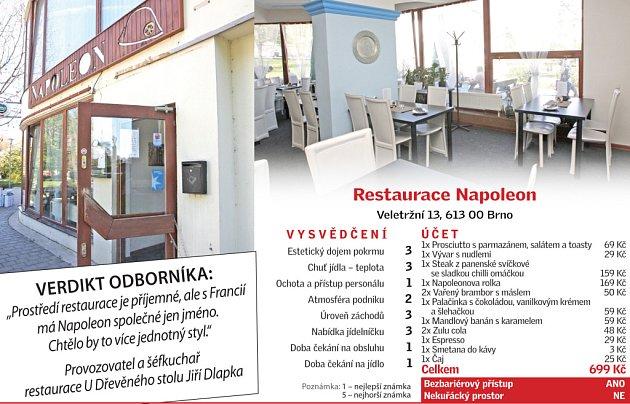 Restaura Napoleon - vysvědčení.