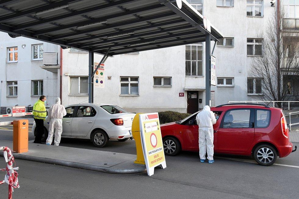 Nemocnice u sv. Anny v Brně v době koronaviru.