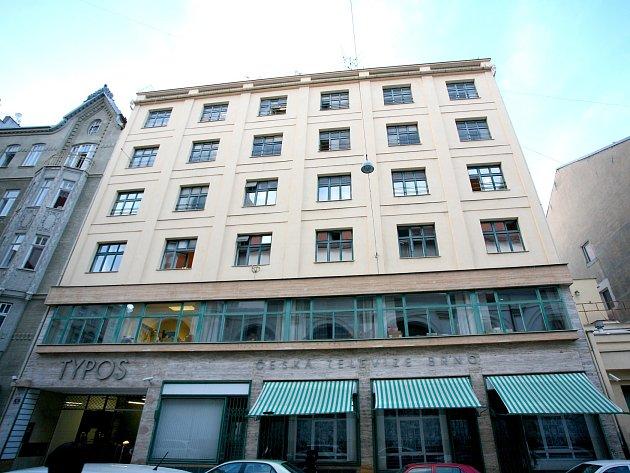 Budova Typos v Jezuitské ulici v Brně.