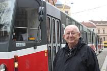 Osmačtyřicet let řídil Ivan Nedělka šaliny v Brně.