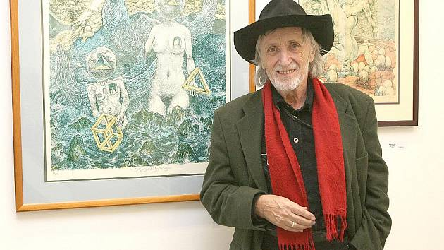 Juraj Jakubisko v Brně představil své grafiky.