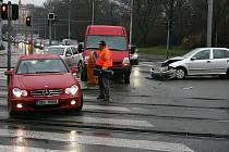 Dopravní nehoda ucpala Koliště.