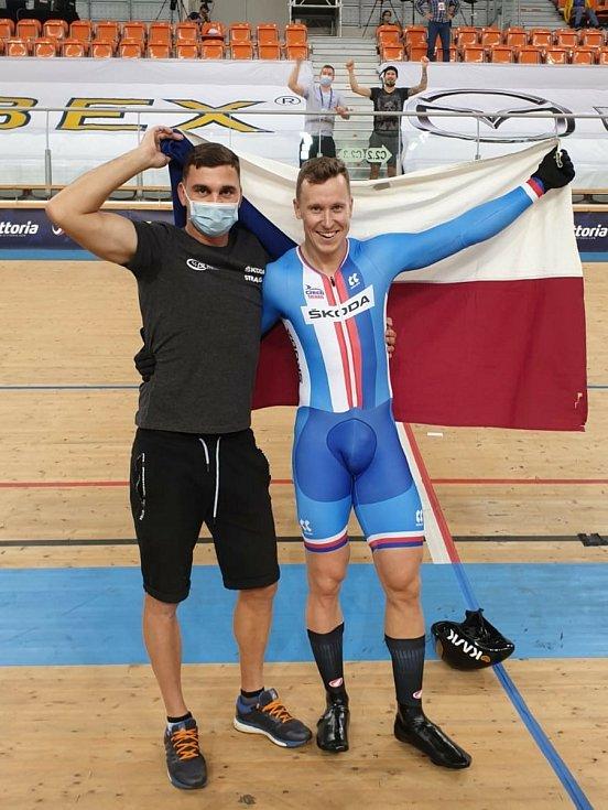 Brněnský dráhař Tomáš Bábek vyhrál na mistrovství Evropy v Bulharsku pevný kilometr.