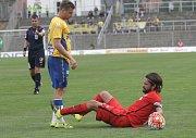 Pavel Zavadil překonal zranění kolena a vrátil se do sestavy Zbrojovky. Na snímku v utkání s Teplicemi z loňské sezony.