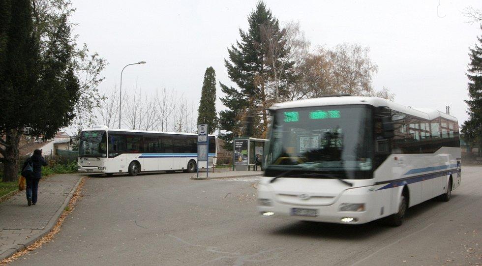 Autobusové nádraží Kuřim.