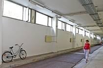 Atletický tunel pod vysokoškolskými kolejemi slouží brněnským sportovcům pro zimní přípravu.