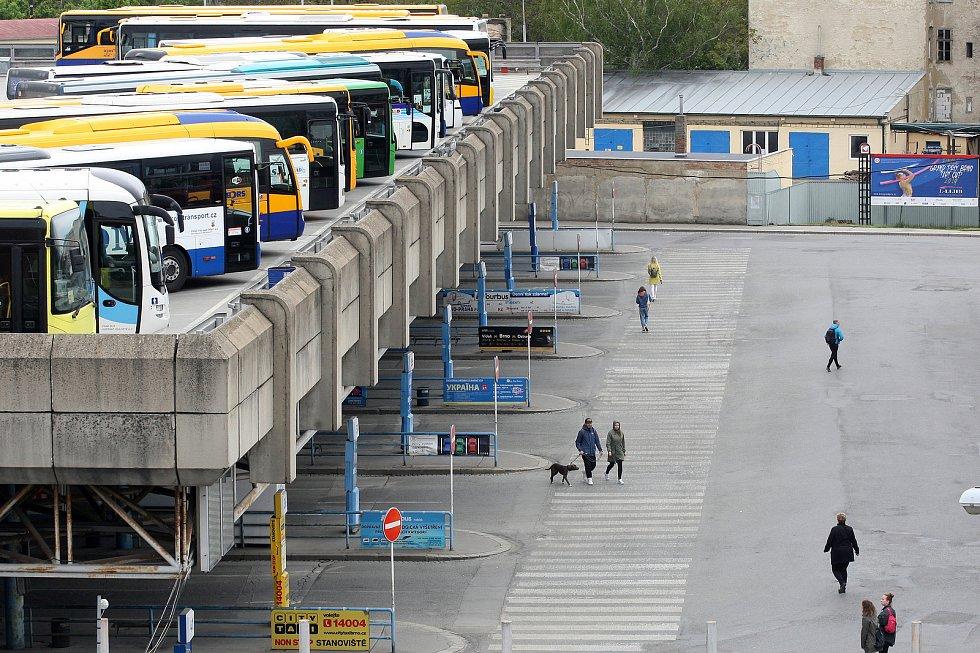 Ústřední autobusové nádraží Brno Zvonařka.