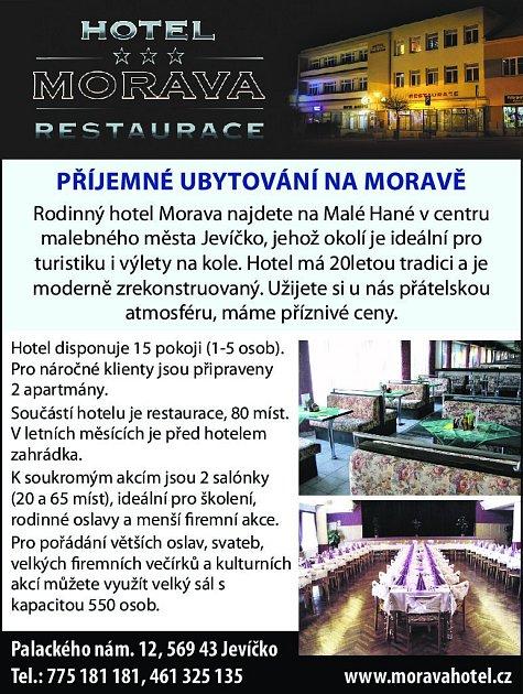 3. Hotel Morava Jevíčko