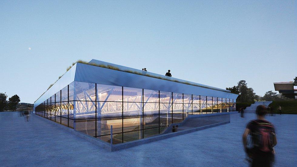 Dlouho plánovaný pětadvacetimetrový bazén za Lužánkami má svou podobu, stát má do dvou let.