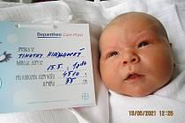 Timothy Hiadlovský, 15. května 2021, Nemocnice Břeclav, 4510 g, 55 cm