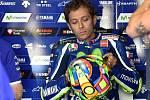Sobotní program brněnské Grand Prix na Masarykově okruhu. Valentino Rossi.