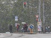 Sníh a teploty jako v únoru. Doslova aprílové počasí ve středu překvapilo nejednoho Brňana.