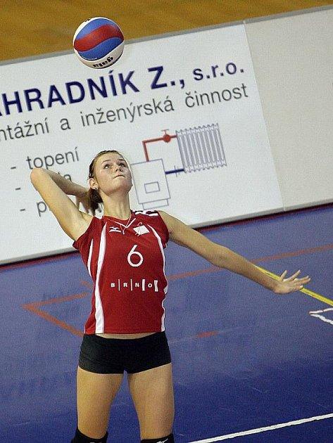 Volejbalistka KP Brno Vendula Straková.