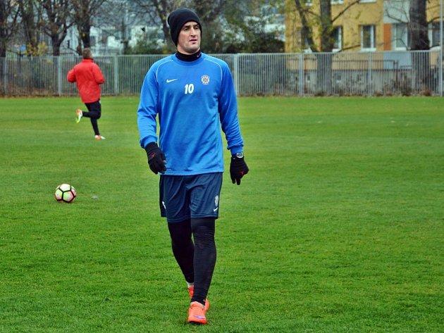 Martin Fenin se s fotbalisty Zbrojovky připravoval od listopadu loňského roku.