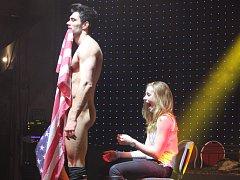 Páteční večer v Laser Show Hall patřil mistrovství světa v pánském striptýzu.
