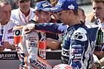 Sobotní program brněnské Grand Prix na Masarykově okruhu. Marc Márquez a Jorge Lorenzo.