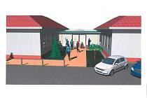 Vizualizace nového multifunkčního  domu v Žabčicích na Brněnsku