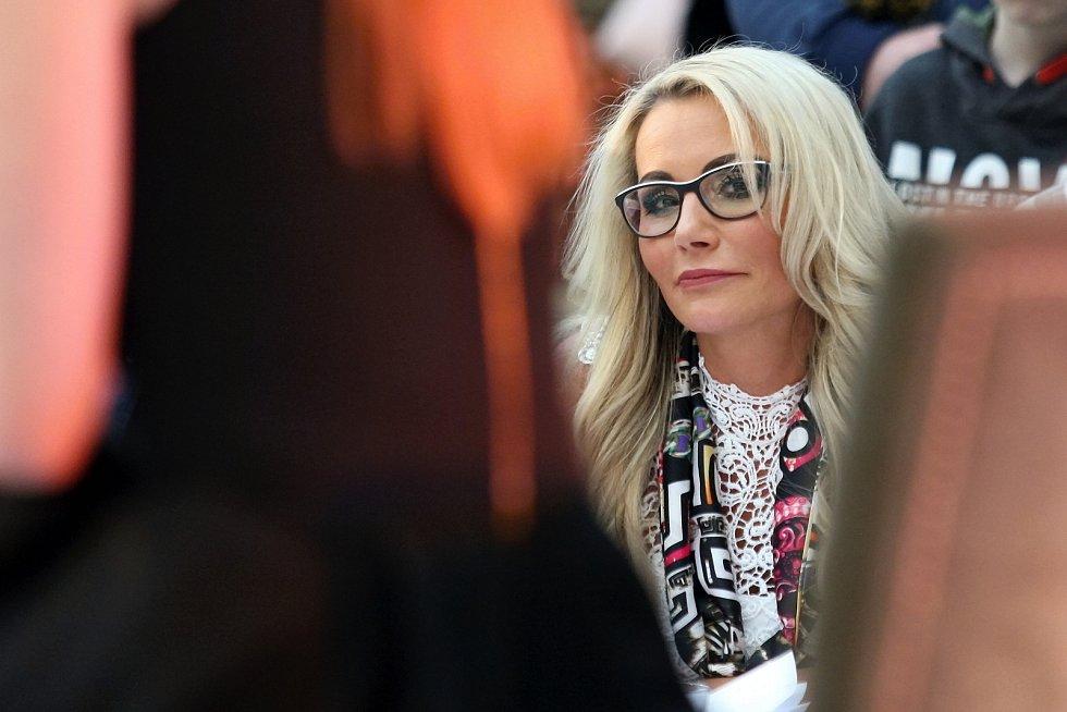 Casting na Českou Miss 2018 v nákupním centru Olympia.